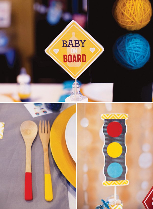 transportation baby shower decorations