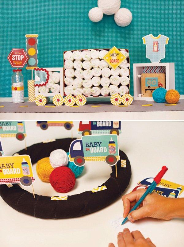 diy truck diaper cake