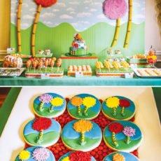 truffula tree dessert table