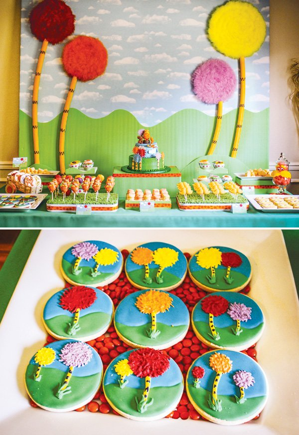 truffula tree dessert table