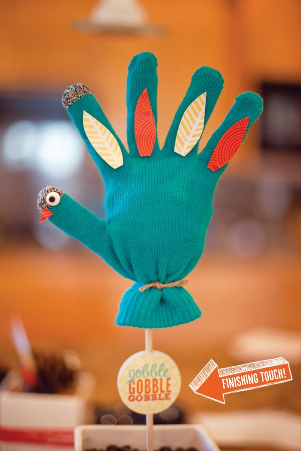 mitten turkey kids craft and party decoration