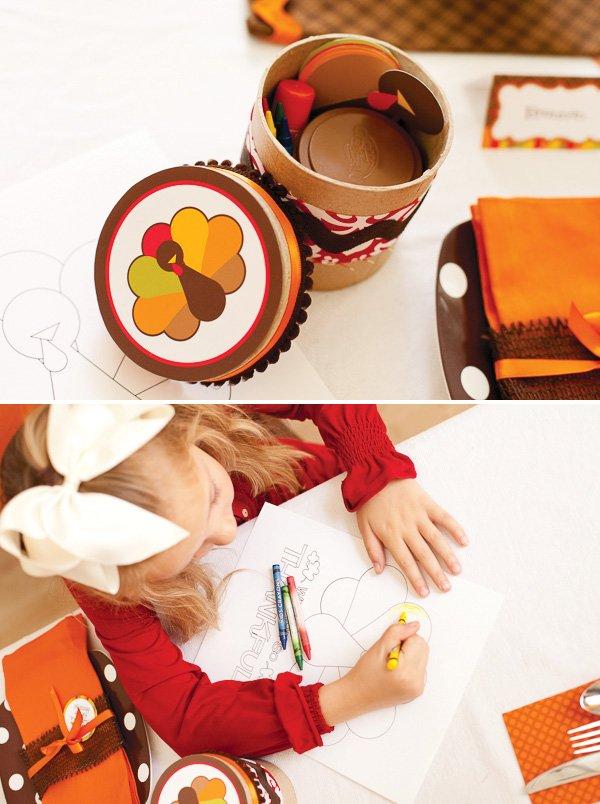 kids turkey coloring