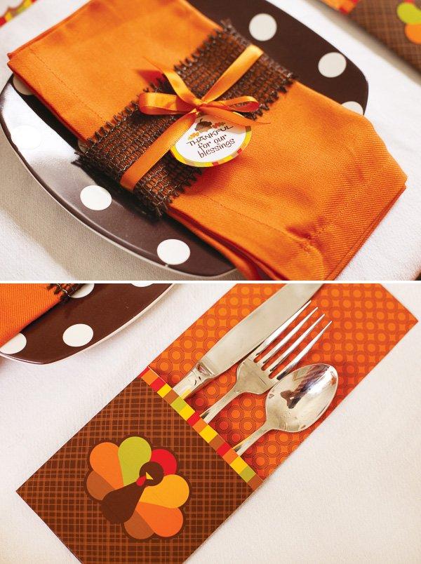 turkey thanksgiving utensils