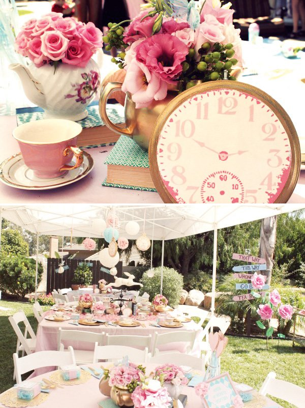 unbirthday tea party Vintage Alice in Wonderland