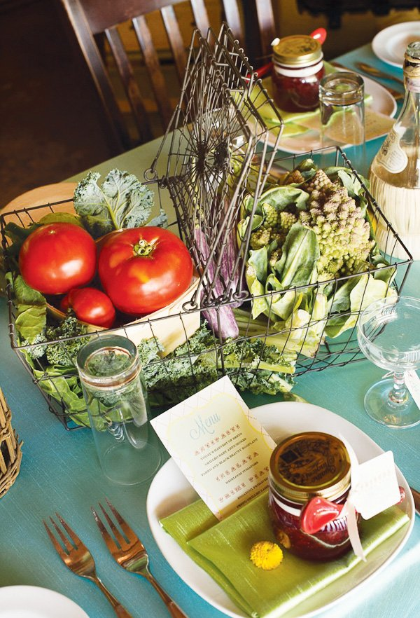 organic vegetable basket