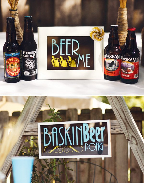 vintage beer party signs