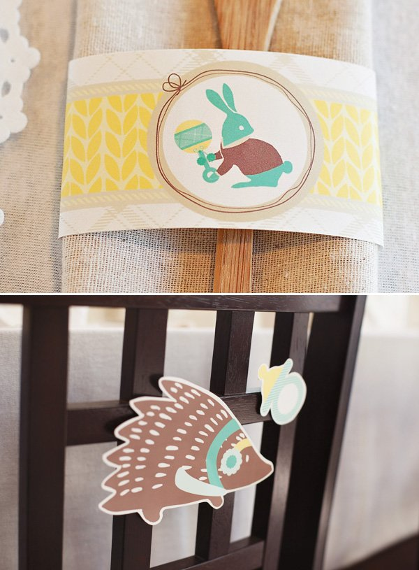 winter animal baby shower printables