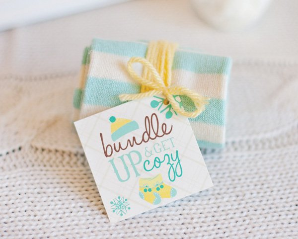winter baby shower favors