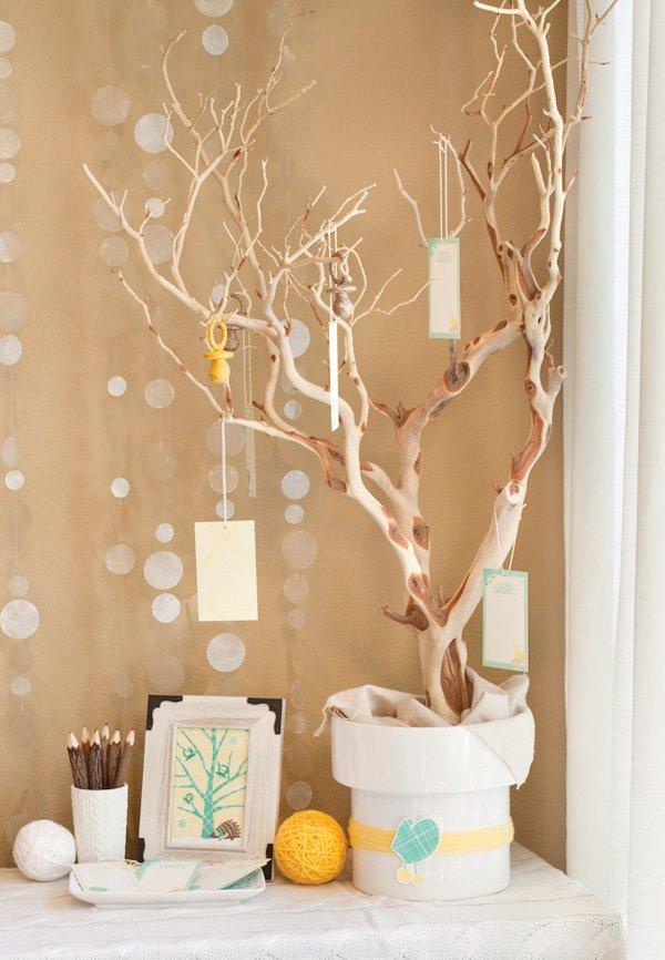 winter baby shower wishing tree