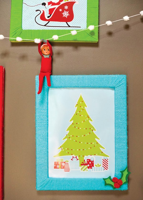 yarn wrapped picture frame