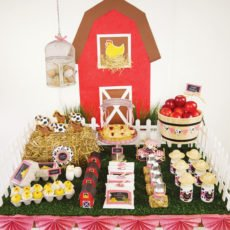 barnyard dessert table