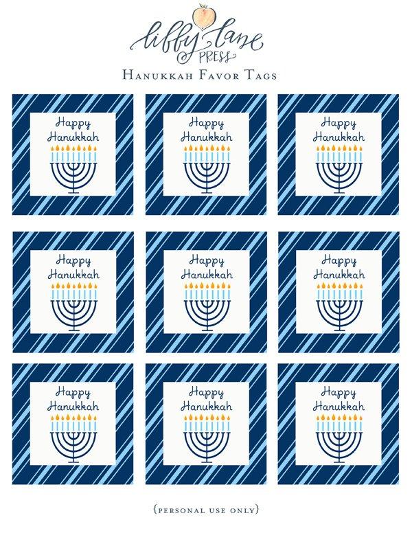 free hanukkah printable