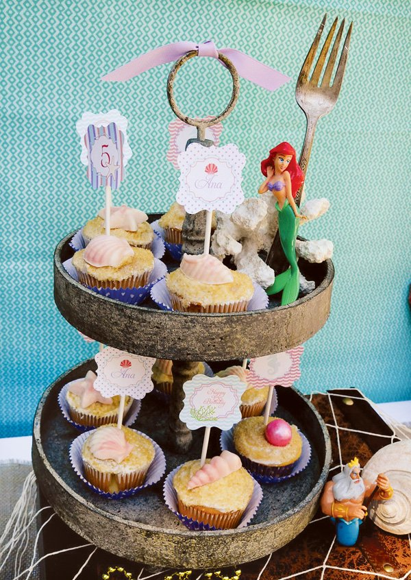 ariel mermaid cupcakes