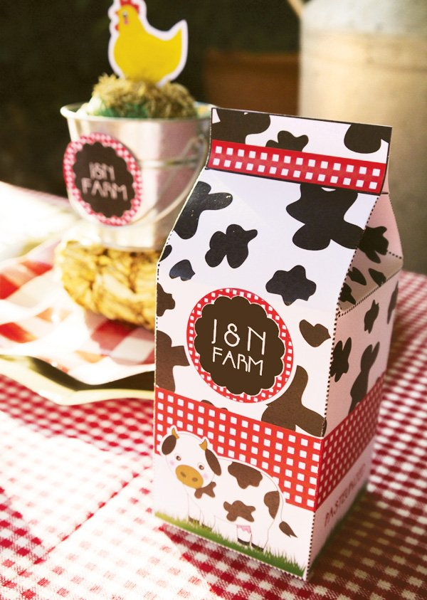barnyard birthday printable favor box