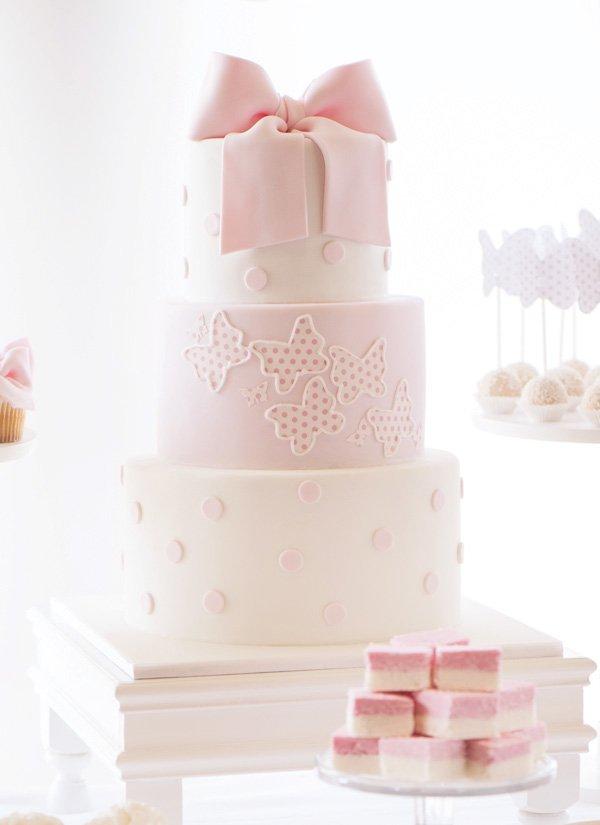 polka dot butterfly cake
