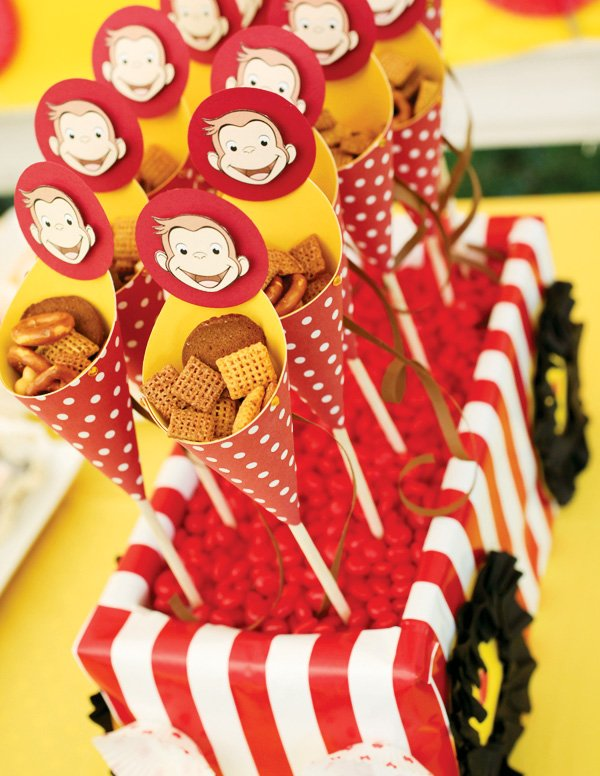 curious george party snacks