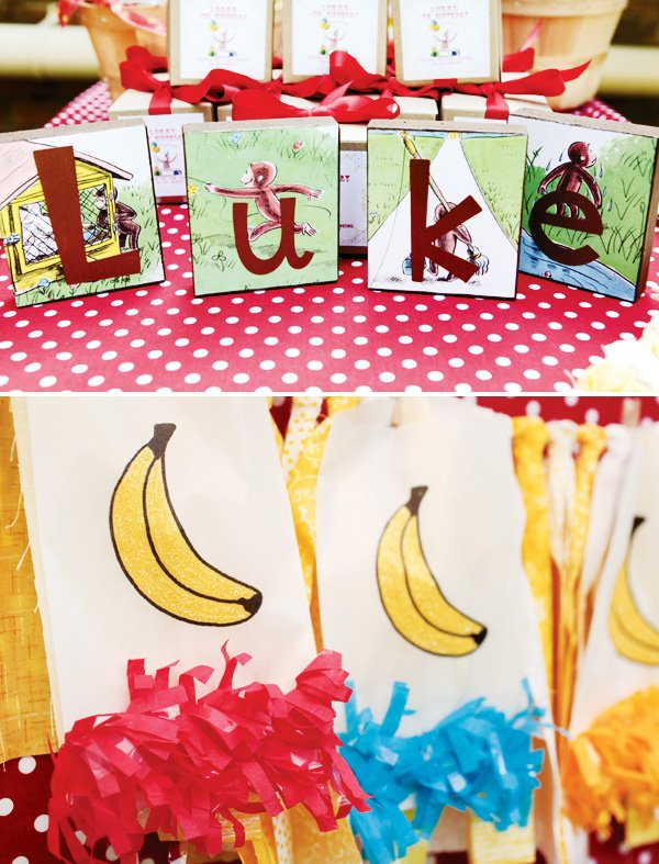 curious george party table