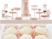 delicate pink dessert table