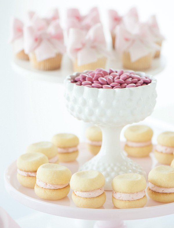 delicate pink desserts