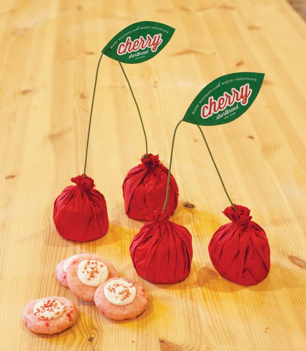 diy cherry cookie packaging
