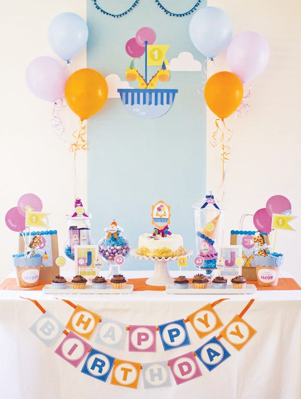 first birthday dessert table