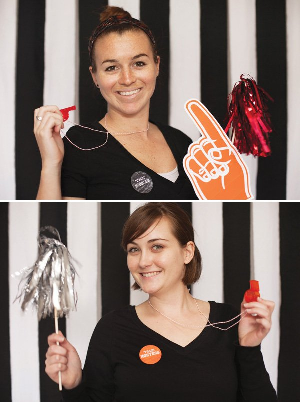 DIY Football Party Photo Booth (Referee Striped Backdrop +