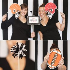 football party photo booth