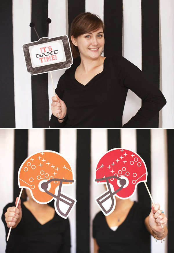 football photo booth