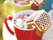 gingerbread hot cocoa cookie garnishes