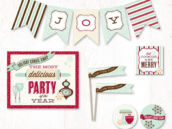 holiday cookie exchange christmas party printables collection from hostess ink
