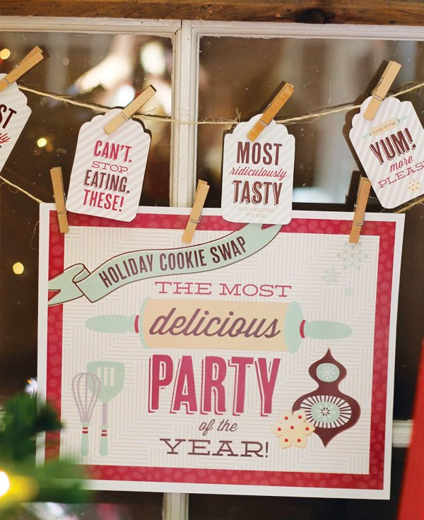 hwtm holiday cookie swap printables