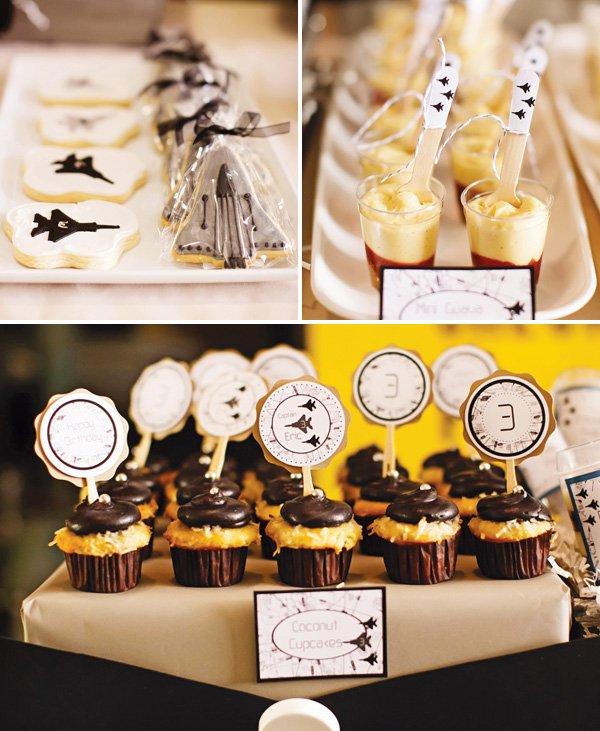 plane party desserts