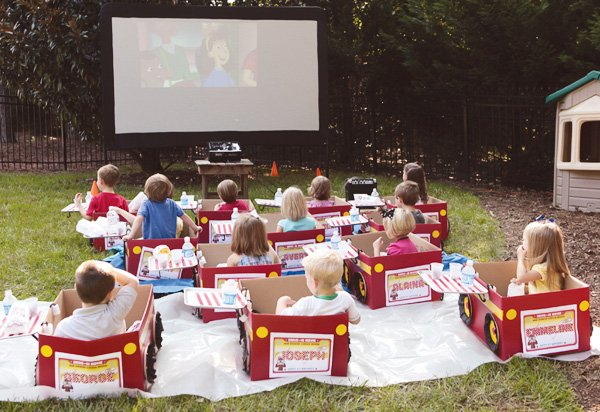 kids drive in movie cars
