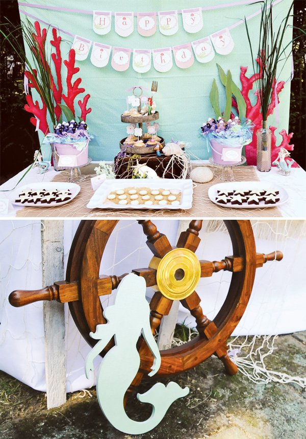 mermaid dessert table