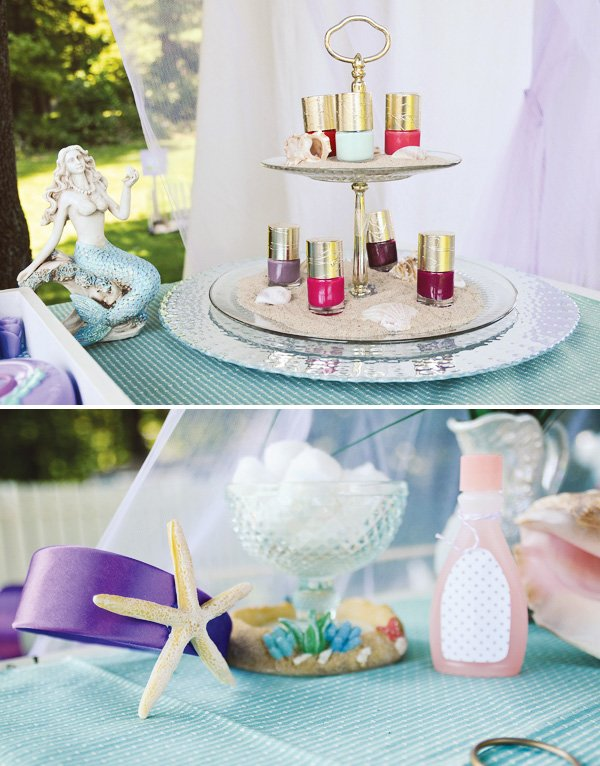 mermaid nail station