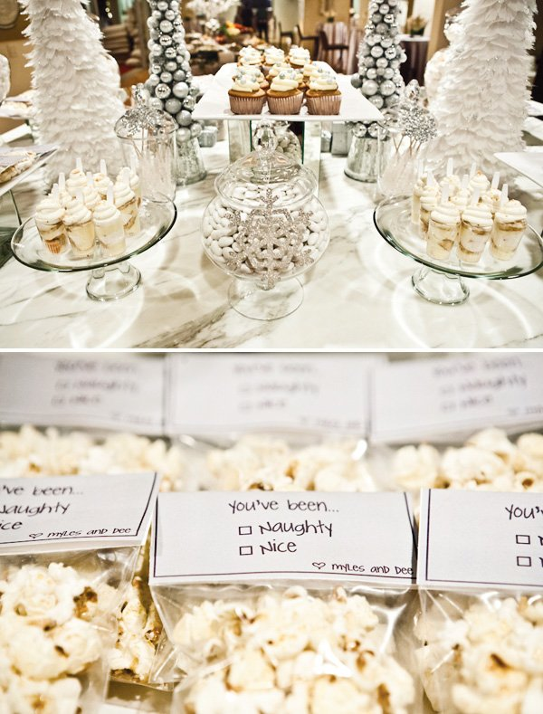 naughty or nice dessert table