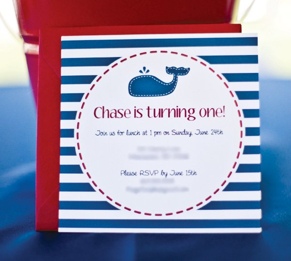 nautical kids party invitation