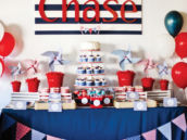 nautical party dessert table