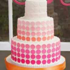 ombre dot cake