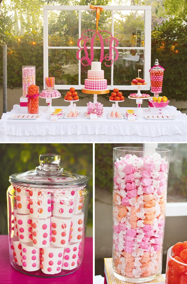 orange and pink sweets