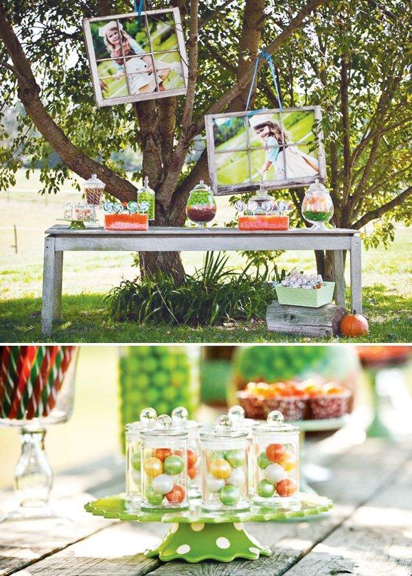 outdoor candy buffet
