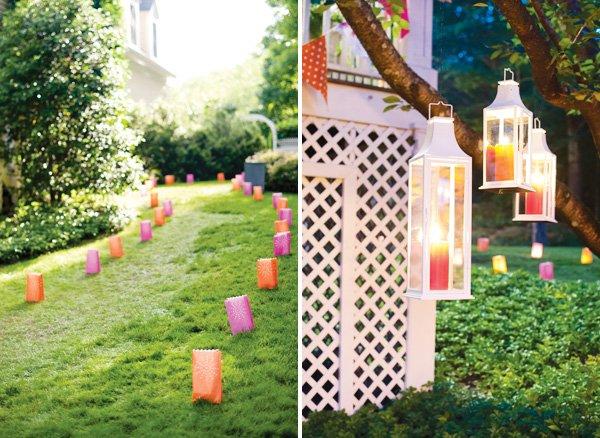 paper lantern walkway