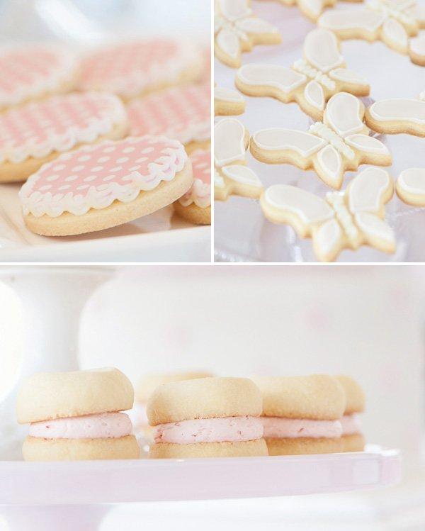 pastel pink cookies