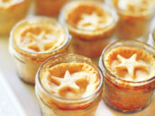 pies in jars with star topper
