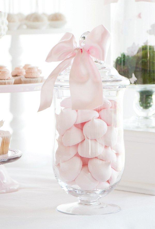 pastel pink meringues