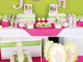 pink turtle dessert table