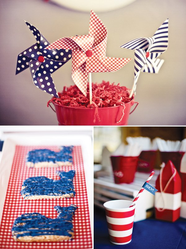 red white and blue pinwheels