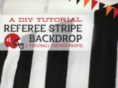 referee stripe backdrop