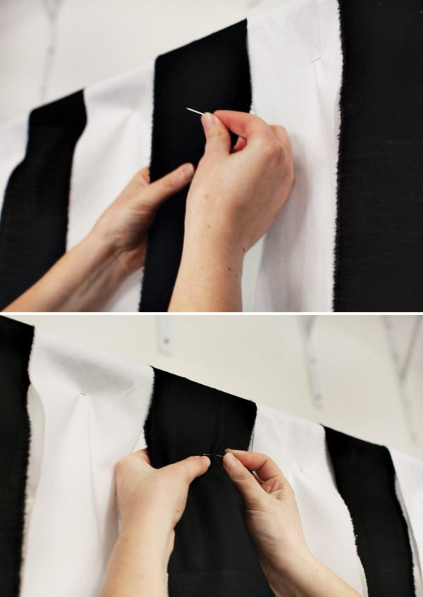 diy referee stripe backdrop