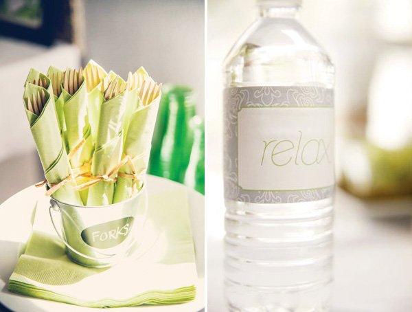 relax water bottle wrap
